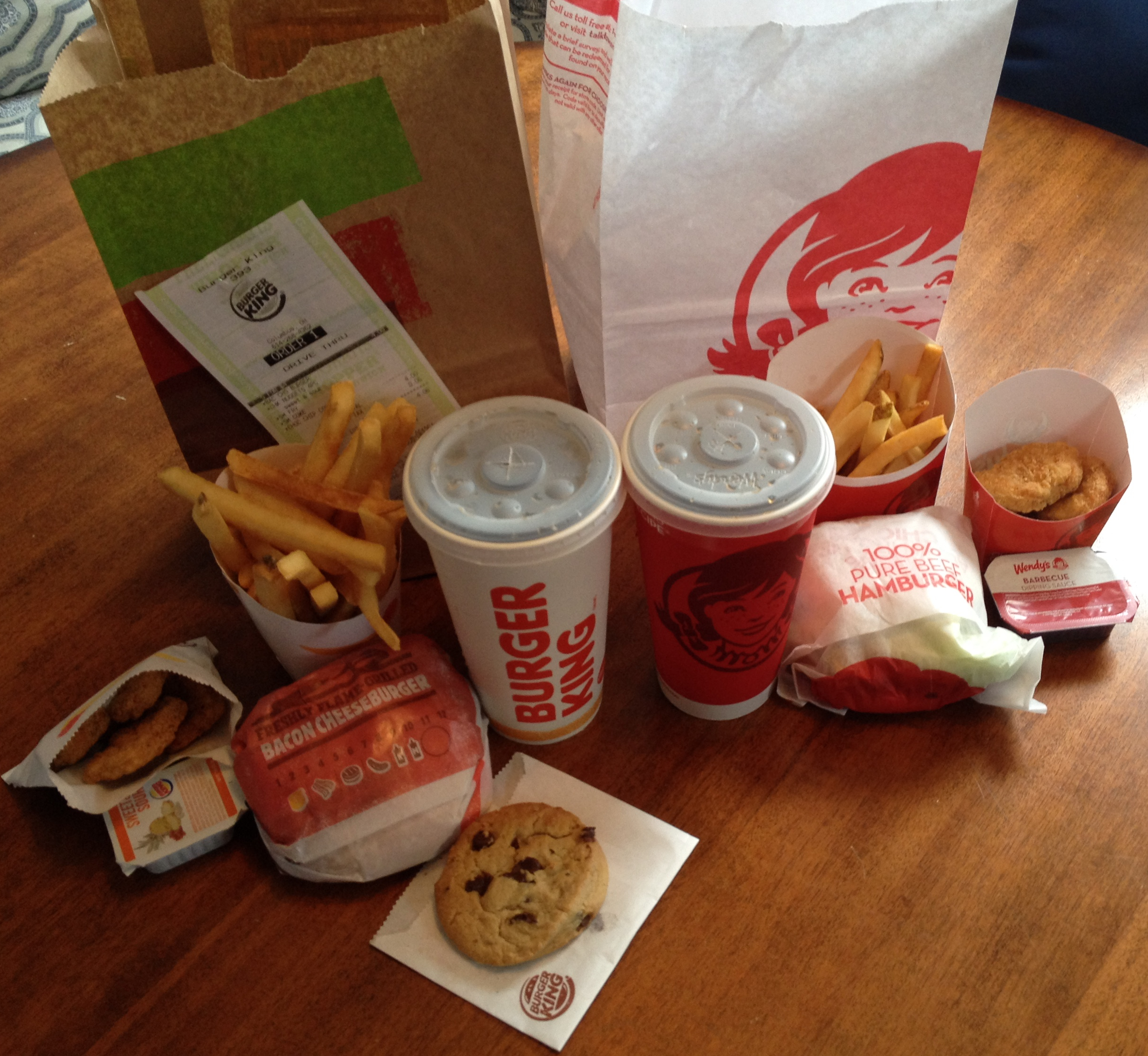 Burger King's 5 For $4 Vs. Wendy's 4 For $4 « CMH Gourmand