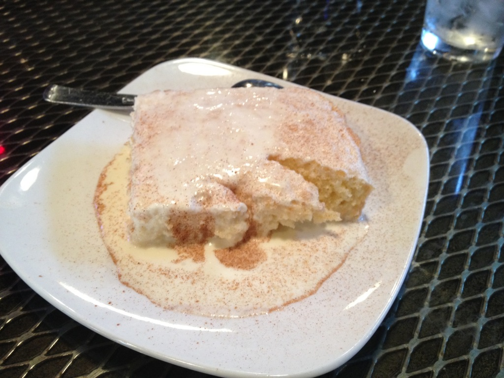 Tres Leches Cake at Arepazo Brewery District