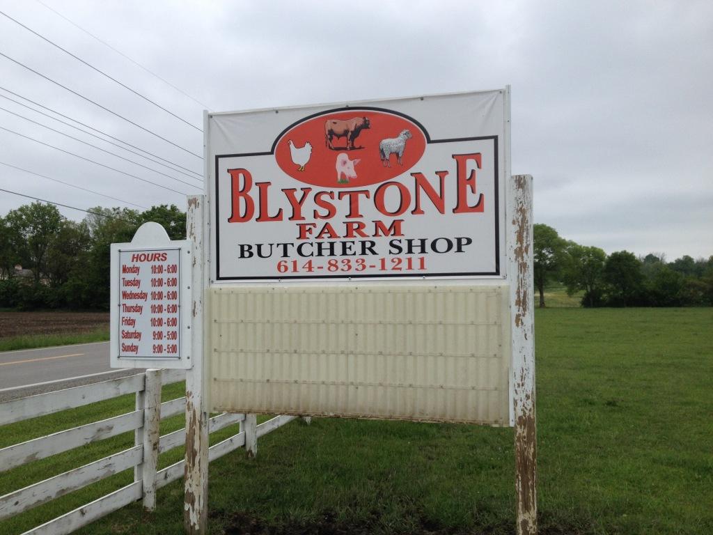 Blystone Farms sign