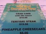 1958 Throwback menu